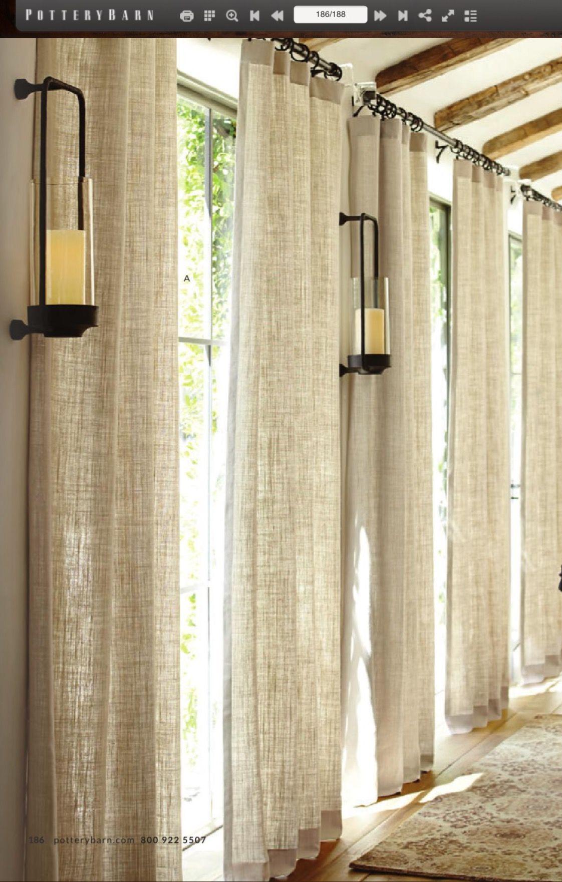 Burlap In 2020 Window Treatments Living Room Linen Curt