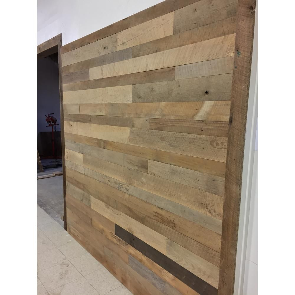 24 Sq Ft 4 1 2 In Wide Original Face Reclaimed Barn Wood Long Plank Wall Paneling Kit Vwfwallplnk Of4 Wood Panel Walls Wall Paneling Reclaimed Barn Wood Wall