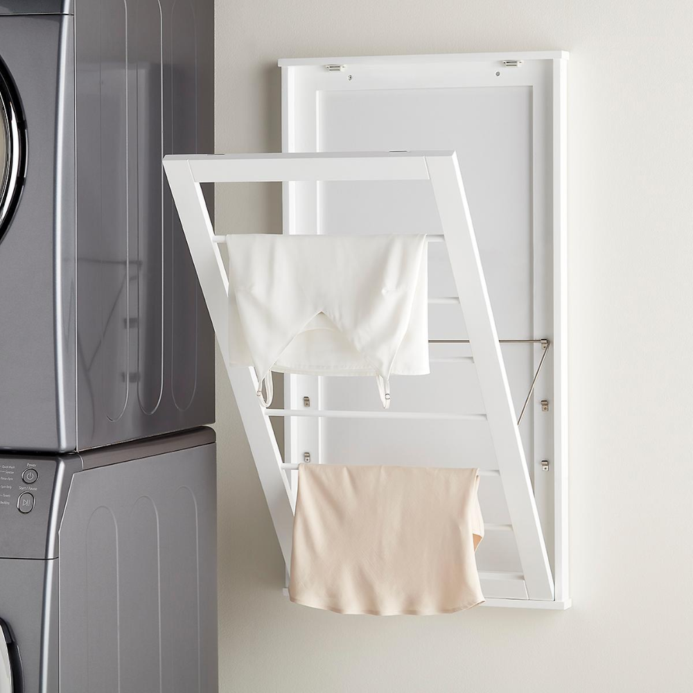 6 Tier Adjustable Wall Mounted Drying Rack In 2020 Wall Mounted
