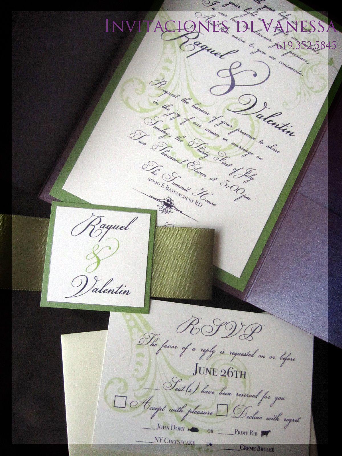Pocket Fold Wedding Invitation | My Invitations | Pinterest ...