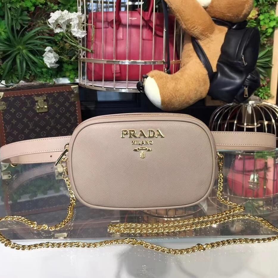 3aa2b52191d418 Prada Saffiano Leather Belt bag 1BL007 Beige 2018 | Prada Bags ...