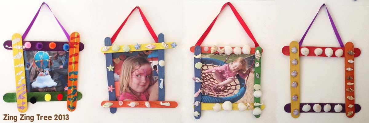 popsicle stick craft frames | Father\'s Day crafts | Pinterest ...