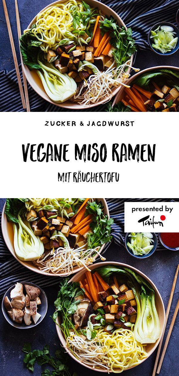 Vegane Miso Ramen Suppe (viiiel Gemüse!!)