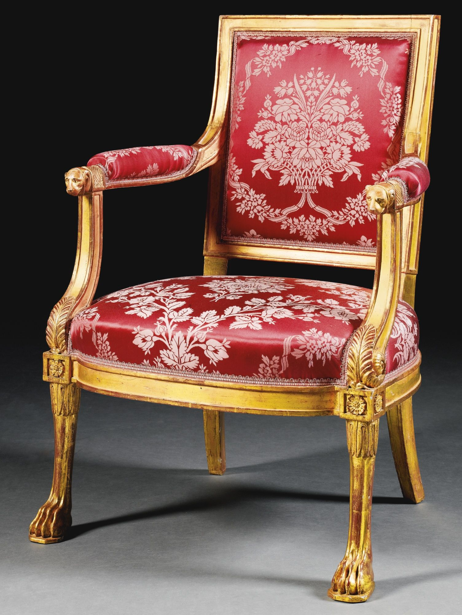 A suite of carved giltwood seat furniture by georges jacob - Sillas louis xvi ...