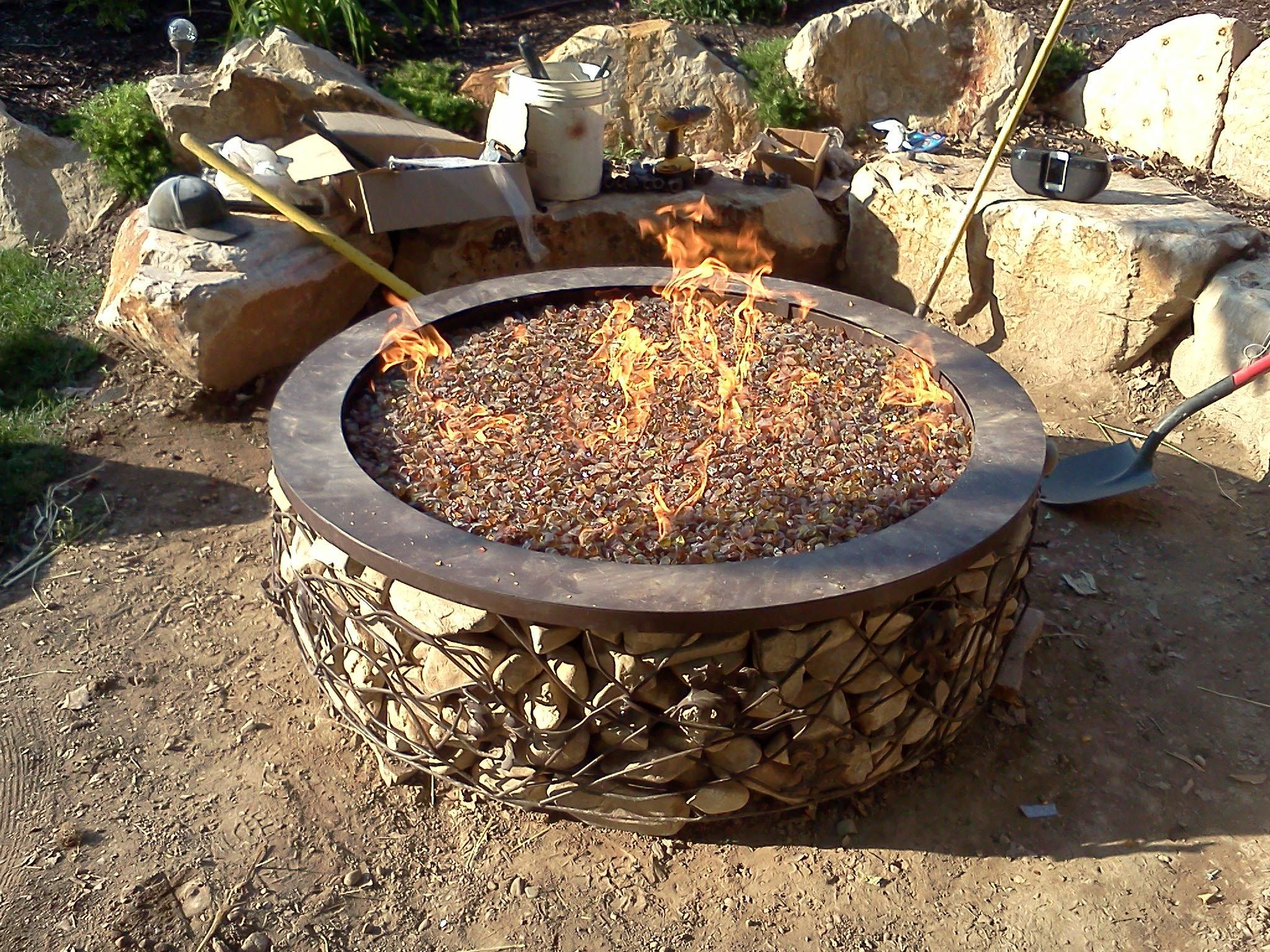 gas fire pit rocks fire pit pinterest gas fire pits and gas fires