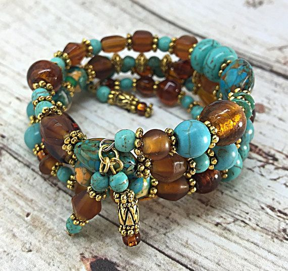Items similar to Jasper Stone and Amber Necklace on Etsy