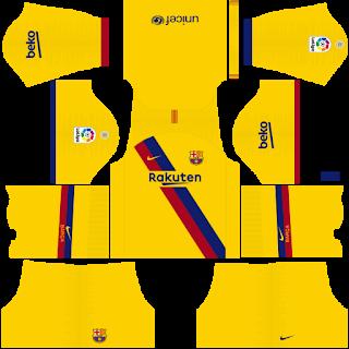 Update Kits Uniformes Barcelona Liga Santander 2019 2020 Fts 15 Dls Skyredpes