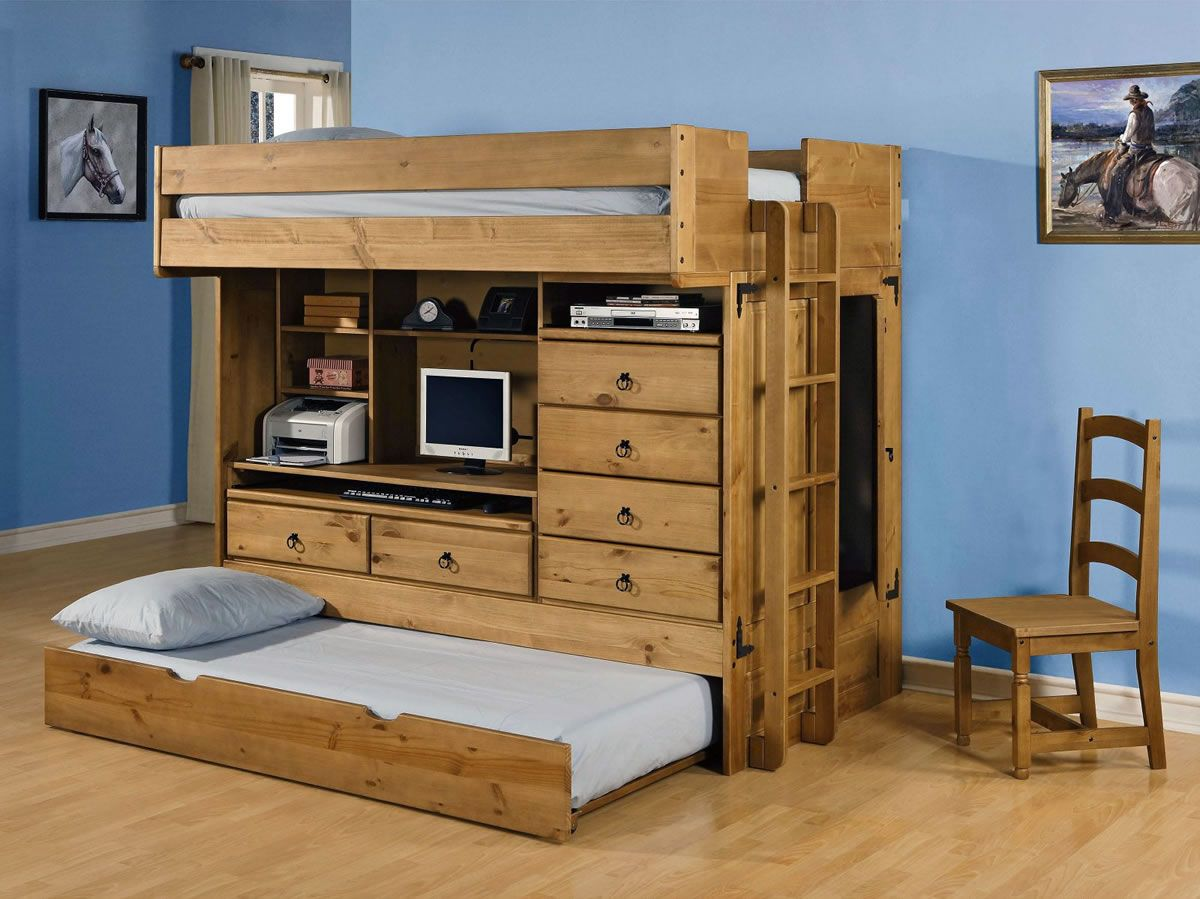 rustica trundle out beds pinterest full size bunk beds powell furniture and bunk bed. Black Bedroom Furniture Sets. Home Design Ideas