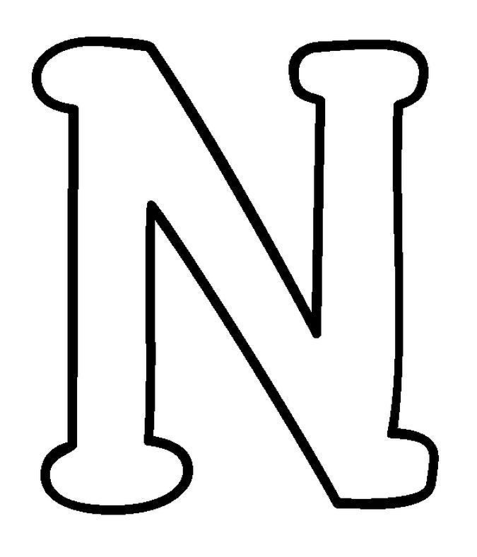 Resultado de imagen para letra n para colorear mayuscula   BraianC ...