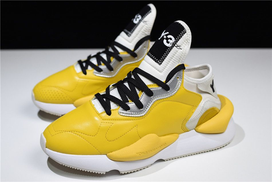 bf5acda5183d2 2018 adidas Y-3 Introducing Kaiwa Bright Yellow White Black-Metallic Silver  Free Shipping