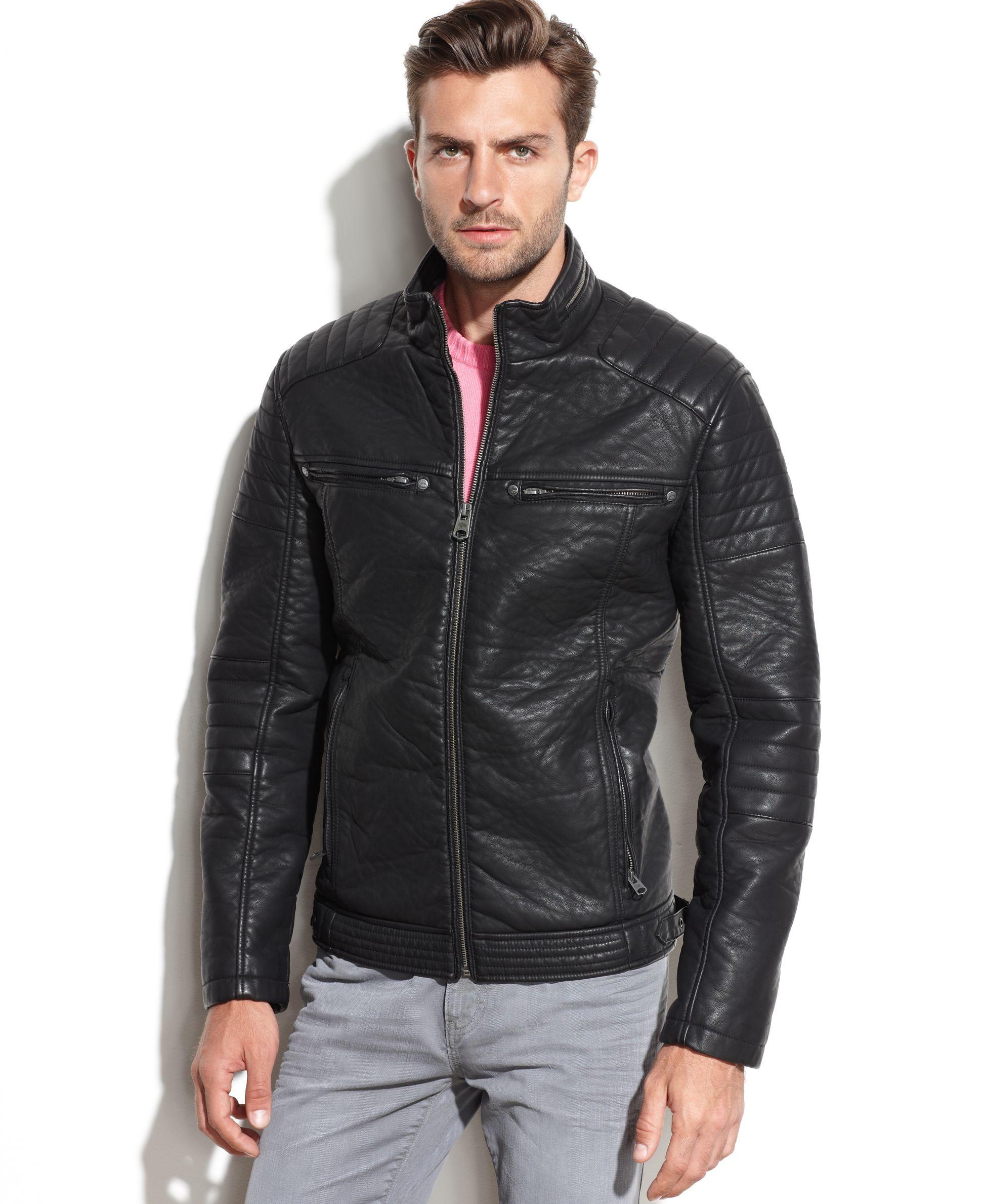 Buffalo David Bitton Faux Leather Moto Jacket Coats Jackets Men Macy S Faux Leather Moto Jacket Jackets Leather Jacket Men