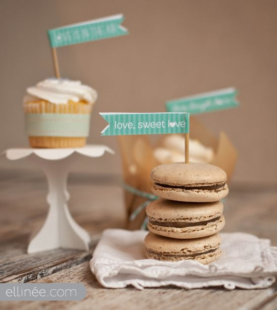 Love, Sweet L<3ve.  Let your dessert table whisper sweet words to you and your guests.  HOW FUN ... and DIY!   Print to match your color scheme and turn your dessert buffet into the perfect ending to your sweet special day.  (And the next words to appear will be COMPLIMENTS for GREAT display!)