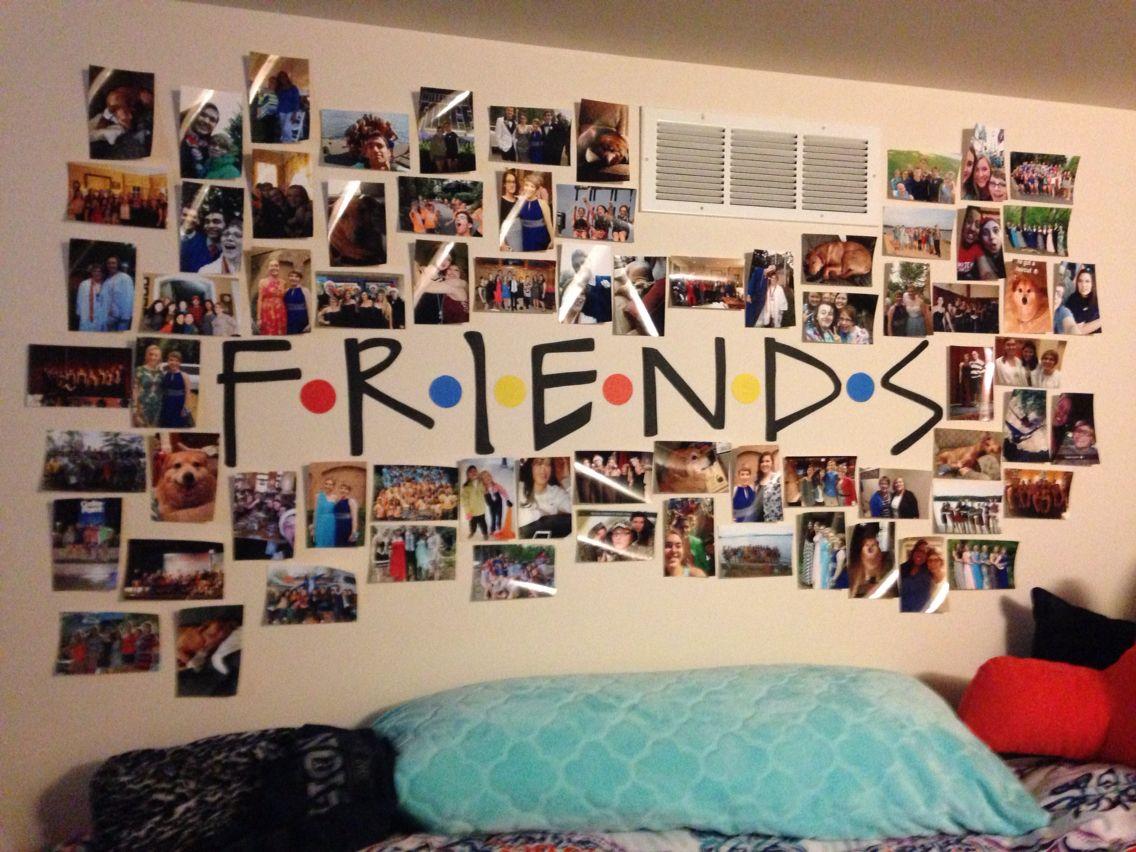 Friends Diy Collage Photo Wall Diy Room Decor For Teens Diy Room Decor Photo Walls Bedroom
