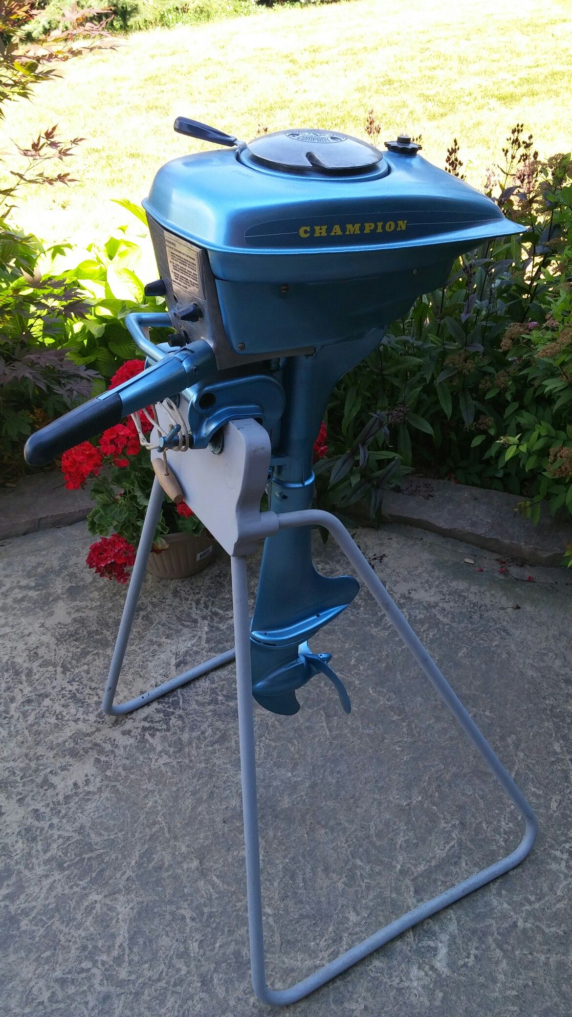 1947 Champion 2J outboard motor