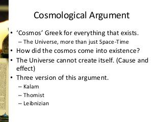 Lesson 7 Of A Multipart Serie The Cosmological Ontological Teleological And Other Argument Don T Prove God O Apologetic Essay