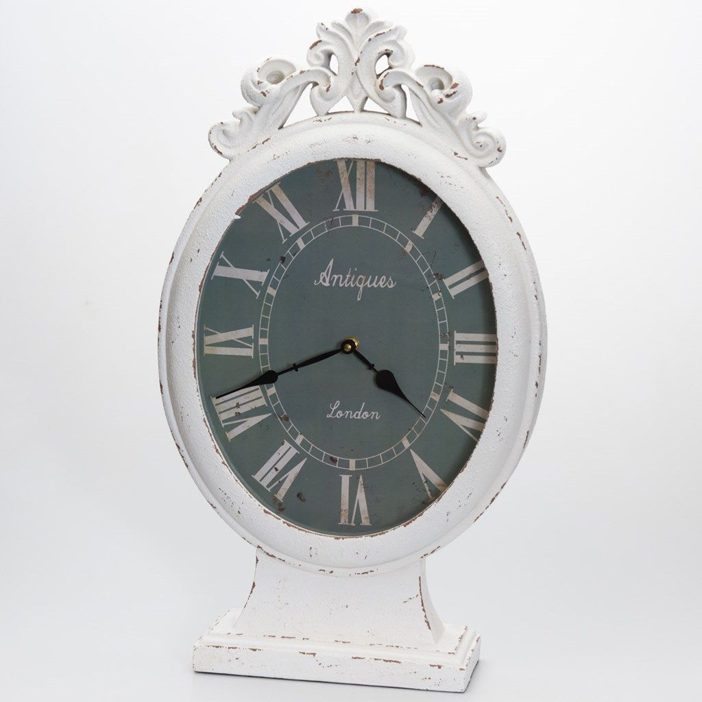 White Mantle Clock White Mantle Mantle Clock Shabby Chic Flooring