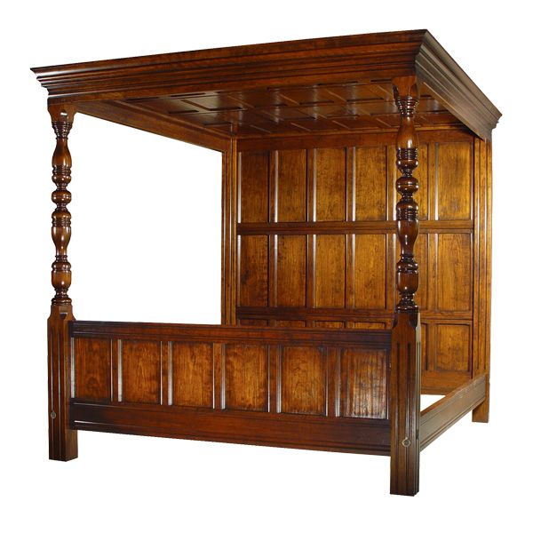 Cheap Antique Furniture For Sale Online: 18th Century Antique Reproduction Beds Tudor Bed