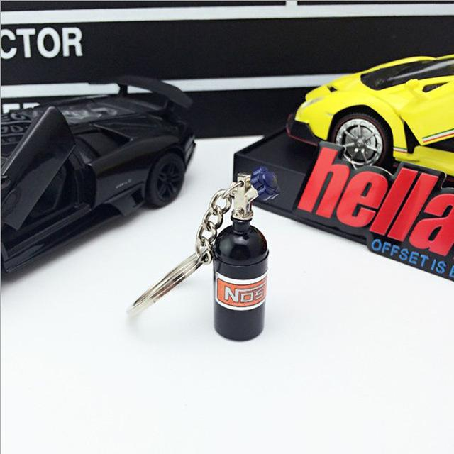 Fast Cars Nos Bottle Keychain