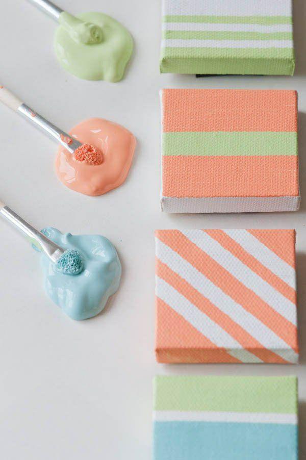 Leinwand bilder selber gestalten diy klein projekt geburtstag - küchenbilder auf leinwand