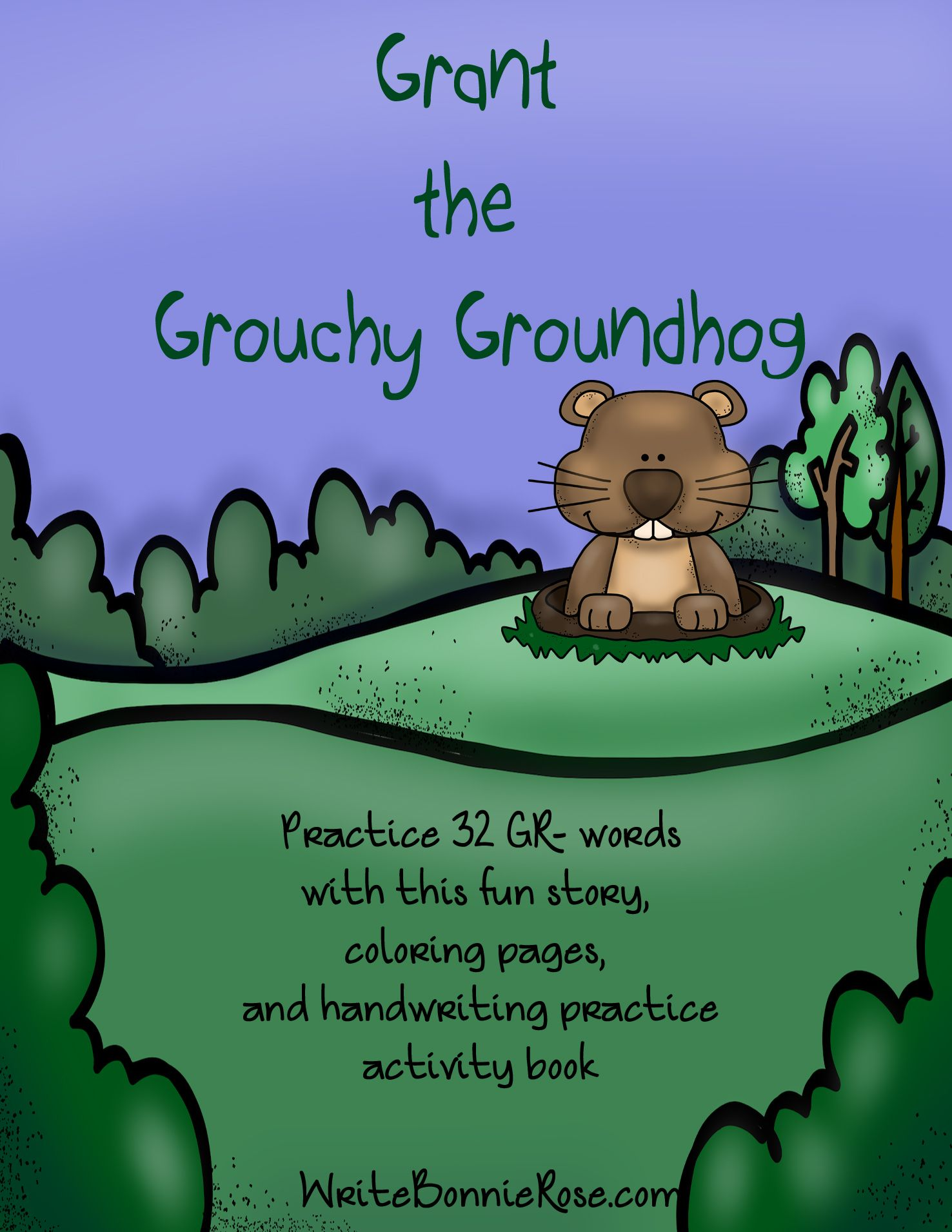 Grant the Grouchy Groundhog Consonant Blends | Reading Comp | Pinterest