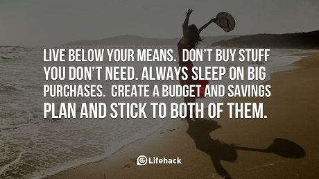 Live Below Your Means