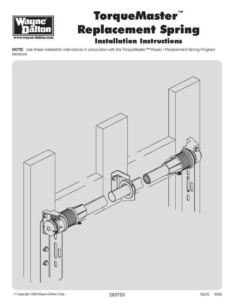 Torquemaster Replacement Spring Installation Instructions