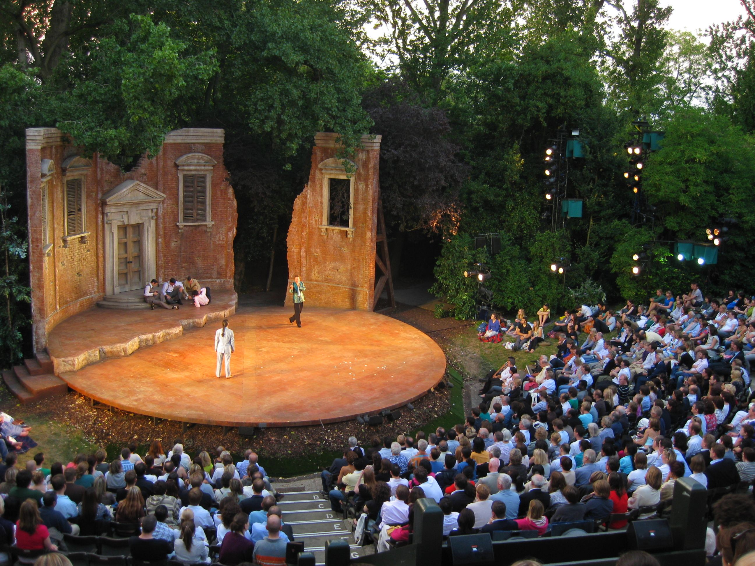 Open air theatre Outdoor stage, Amphitheater