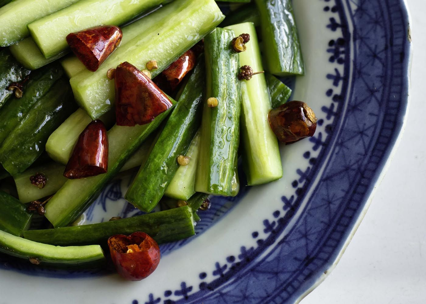 sichuanese spiced cucumber salad | #cucumber #entree #appetiser #foodwise #recipe #vegetarian