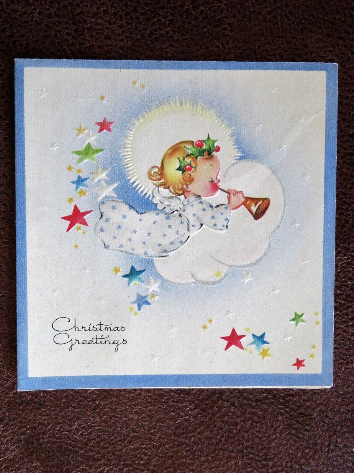 Vintage Christmas Card Unused Circa 1930 Christmas Remembrances