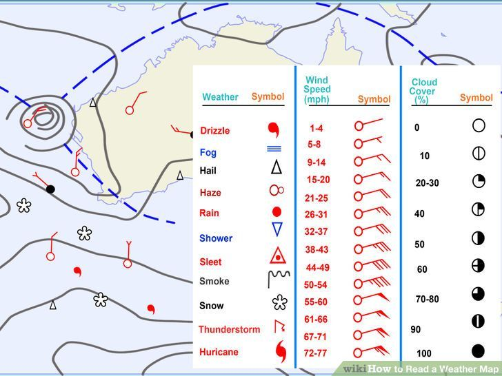How To Read Weather Map Read a Weather Map (With images) | Weather map, Weather, Map