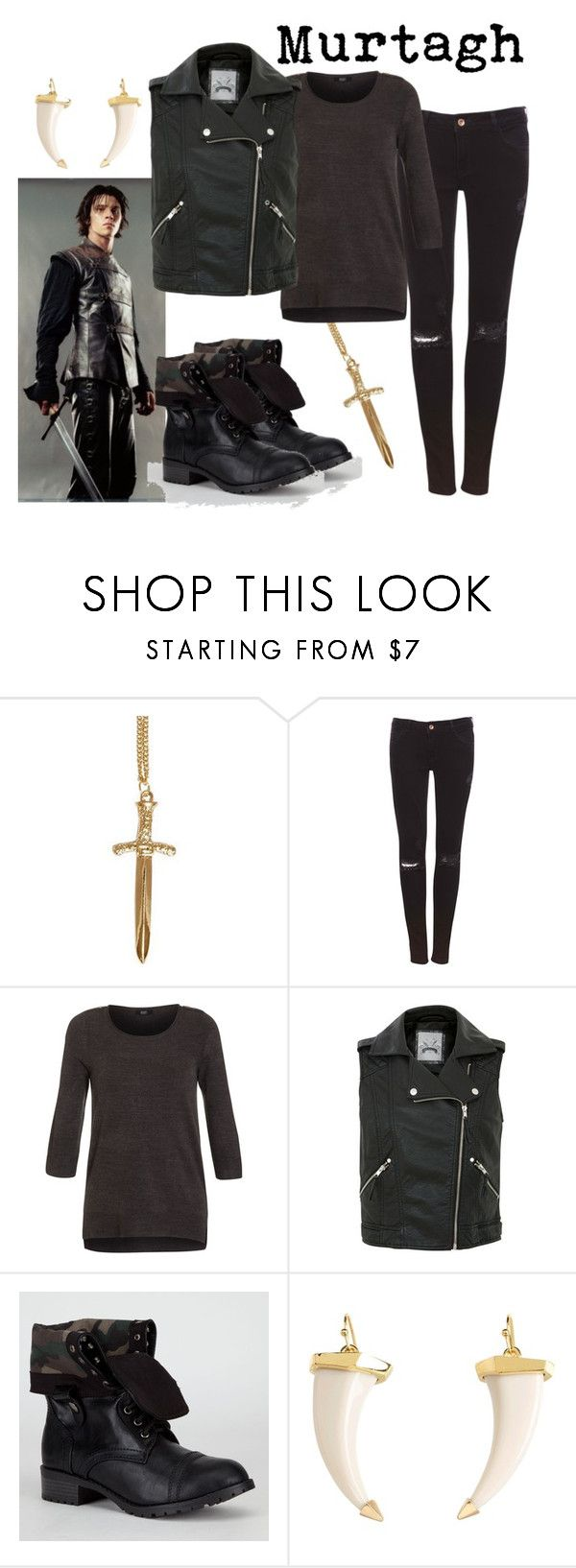 """""""Murtagh"""" by fandom-wardrobes ❤ liked on Polyvore featuring Pull&Bear, Soda, Vince Camuto, eragon and murtagh"""