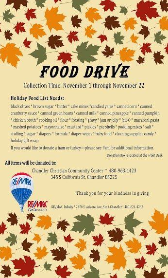 Bill Ryan Google Food Drive Food Drive Flyer Thanksgiving Food Basket