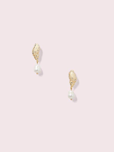 bb450d59c1b Kate Spade Under The Sea Pavé Tulip Shell Drop Earrings, Clear/Gold ...
