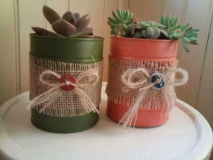 Latas decoradas m ll basteln pinterest blechdosen m ll und dekorieren - Blechdosen dekorieren ...