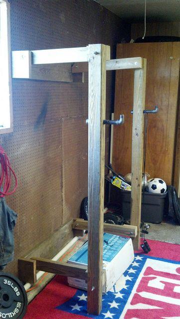 Squat Rack Diy Home Gym Home Made Gym Squat Rack Diy