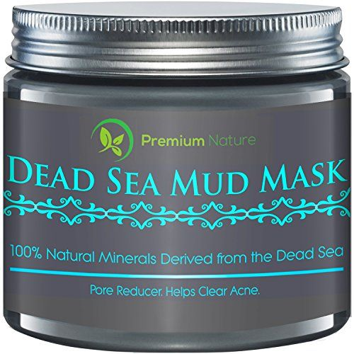 Dead Sea Mud Mask 8 oz Melts Cellulite Treats Acne and Problem Skin Also Acts as Pore Minimizer and Wrinkle Reducer By Premium Nature *** For more information, visit image link.