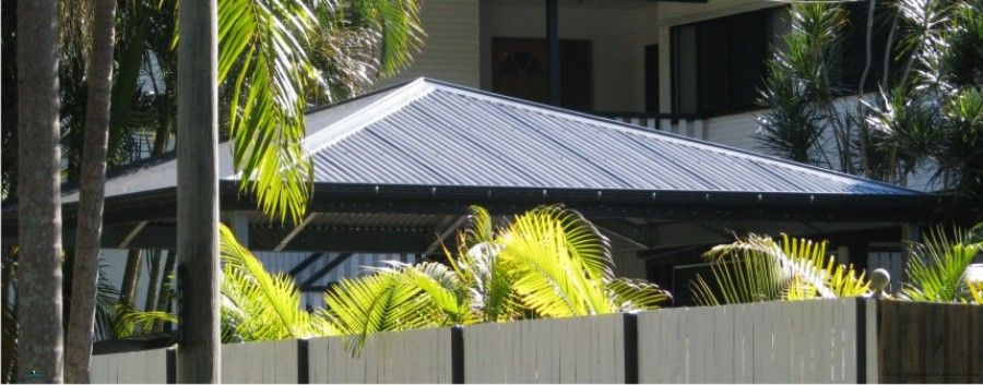 Hip Roof Carport with Colorbond Roof and trim and all steel frame ...