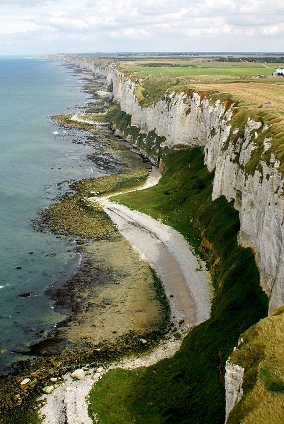 | ♕ | Cliffs of Côte d'Albâtre, Normandy | by © Antoine Grondeau