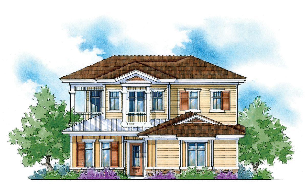 Energy Saving Courtyard Home Plan 33039ZR