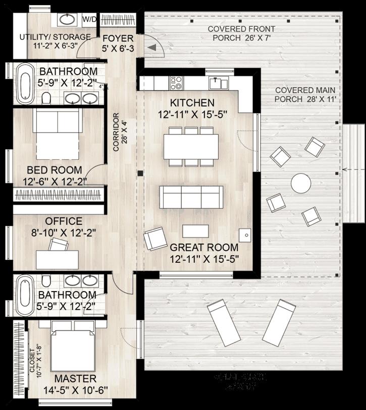 Photo of Truoba 115 Modern House Plan | Truoba Plan 924-2
