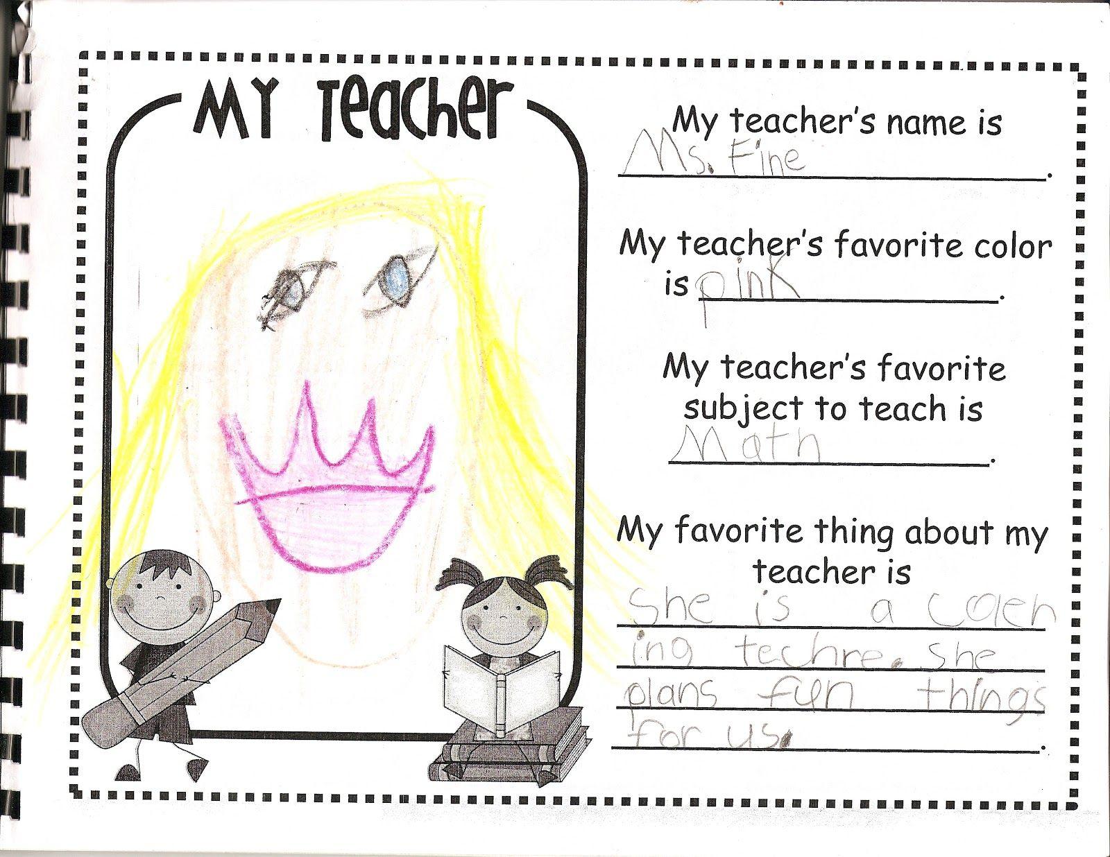 The Davi Dailie Kindergarten Memory Book Teacher Favorite Thing Books Essay