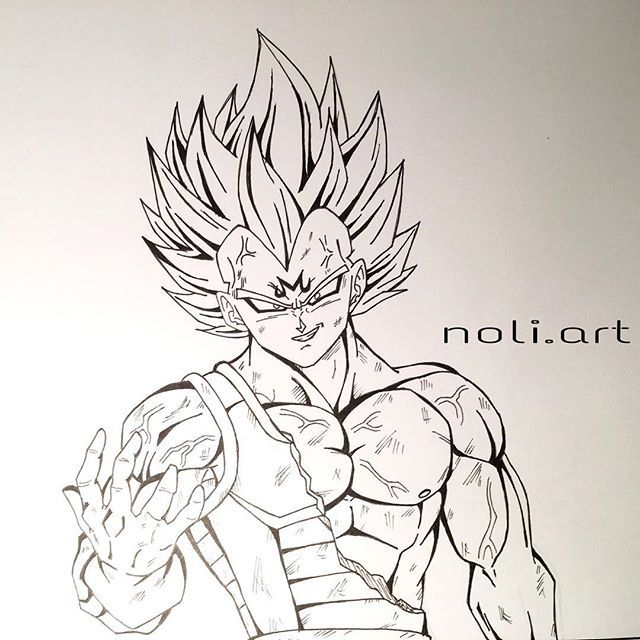 Majin Vegeta Drawing Vegeta Is So Freaking Awesome Pinterest
