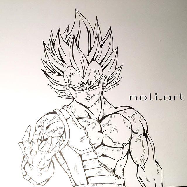 majin vegeta drawing vegeta is so freaking awesome