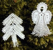 FSL Battenberg Christmas Ornament Set
