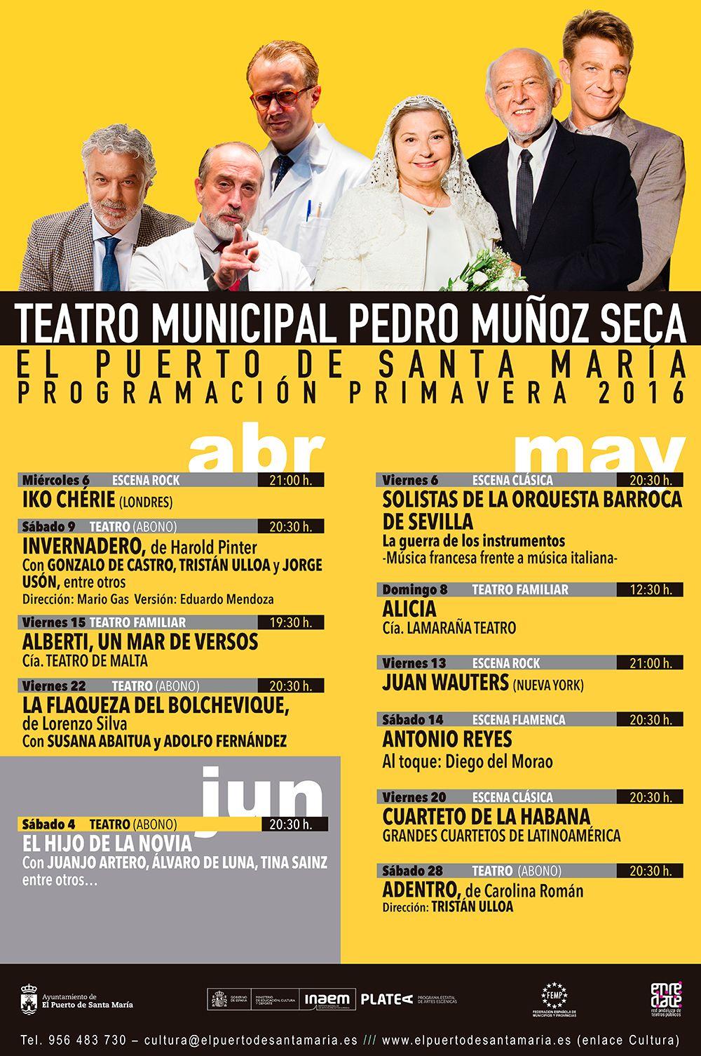 Temporada Primavera 2016 - Teatro Pedro Muñoz Seca