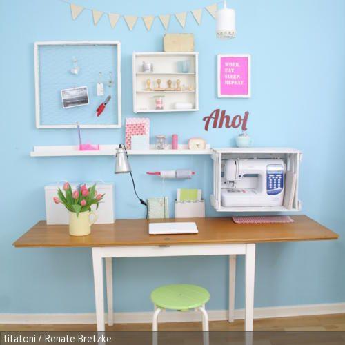 diy arbeitsplatz homedreams bastelzimmer schreibtisch schreibtisch selber bauen und diy. Black Bedroom Furniture Sets. Home Design Ideas