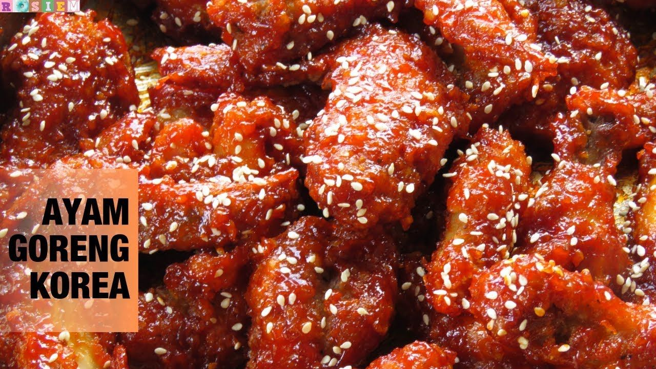 Resep Ayam Goreng Korea Korean Fried Chicken Ayam Goreng Korea Resep Ayam Ayam Goreng