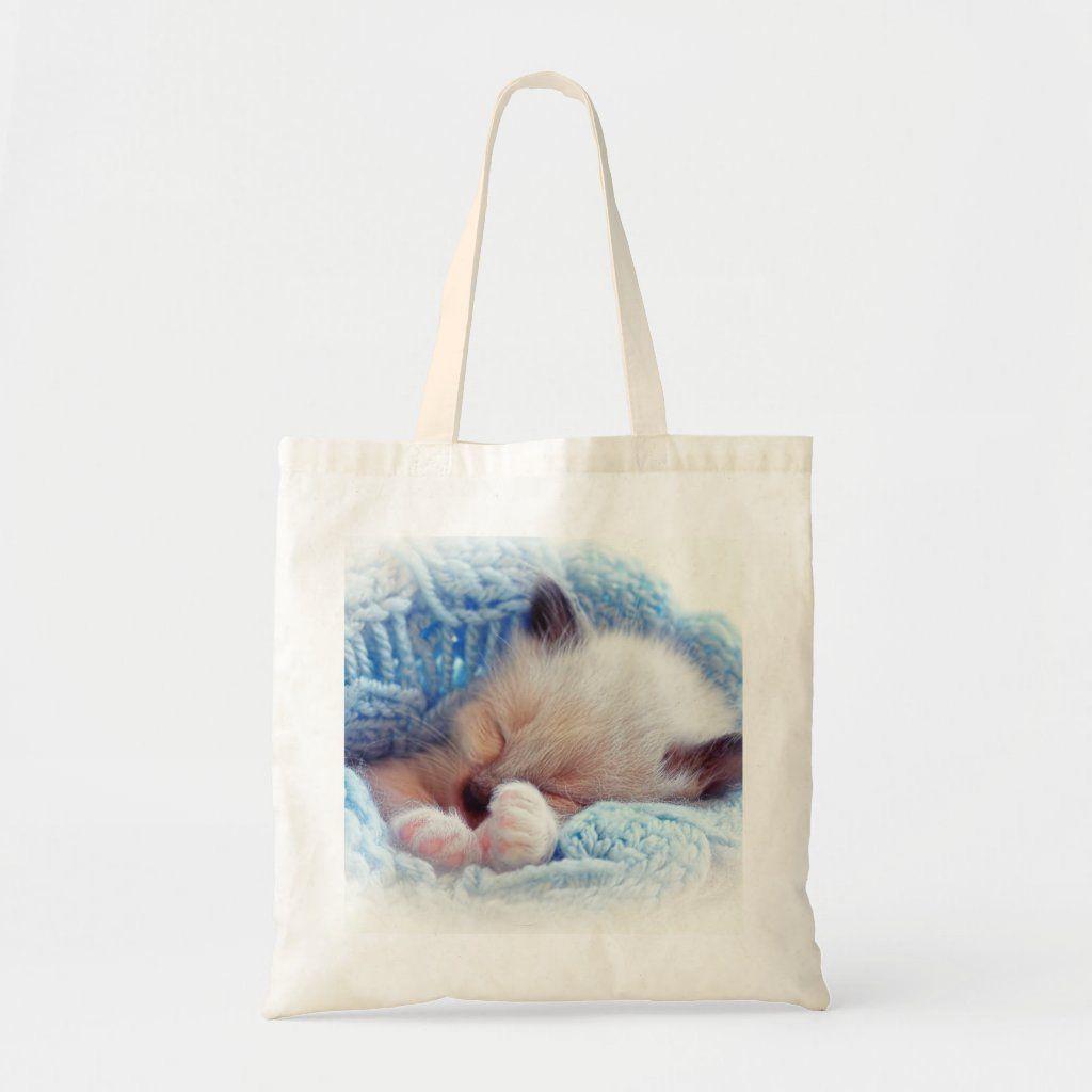 Sleeping Siamese Kitten Paws Tote Bag Zazzle Com In 2021 Siamese Kittens Kitten Adoption Sleeping Kitten