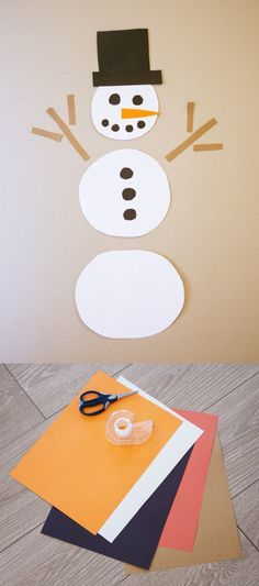 Easy Construction Paper Snowman Craft Kids Love Holidays Snowman