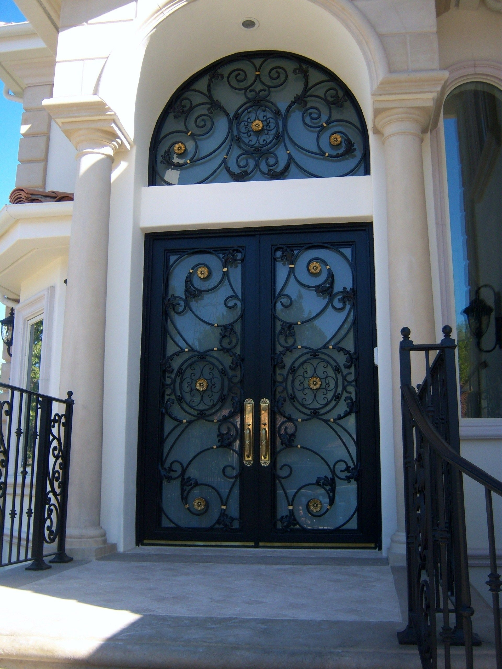 Glass And Wrought Iron Front Doors